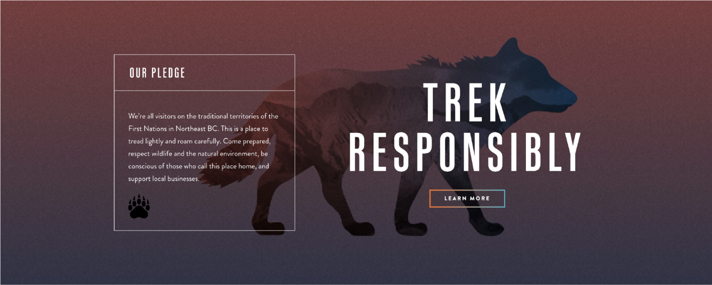Trek Responsibly - NEBC pledge on website